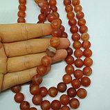Агат оранжевый, матовый, 10 мм, фото 2
