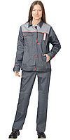 """Костюм """"ФАВОРИТ"""" жен. летний: куртка, брюки т.серый со светло-серым, фото 1"""