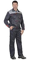 "Костюм ""ФАВОРИТ"" летний: куртка,брюки т.-серый с серым тк.CROWN-230, фото 1"