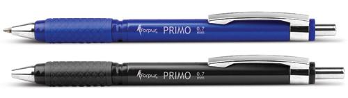 Ручка шар. автомат. Forpus Primo, 0,7мм, метал. клип., черный