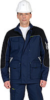 "Костюм ""ФОТОН"" мужской: куртка, брюки (темно-синий с черным) тк.Родос, фото 1"