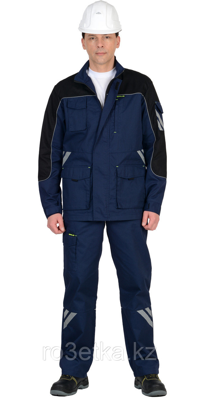 """Костюм """"Фотон"""" : куртка,п/к цв. синий с черным"""