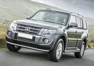 Защита переднего бампера d76 Mitsubishi Pajero IV 2014-