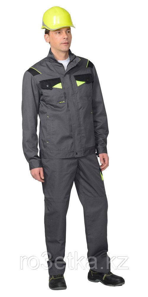 """Костюм """"Ховард"""" : куртка,брюки цв. темно-серый с черной и лимонной отд."""