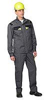 """Костюм """"Ховард"""" : куртка,брюки цв. темно-серый с черной и лимонной отд., фото 1"""