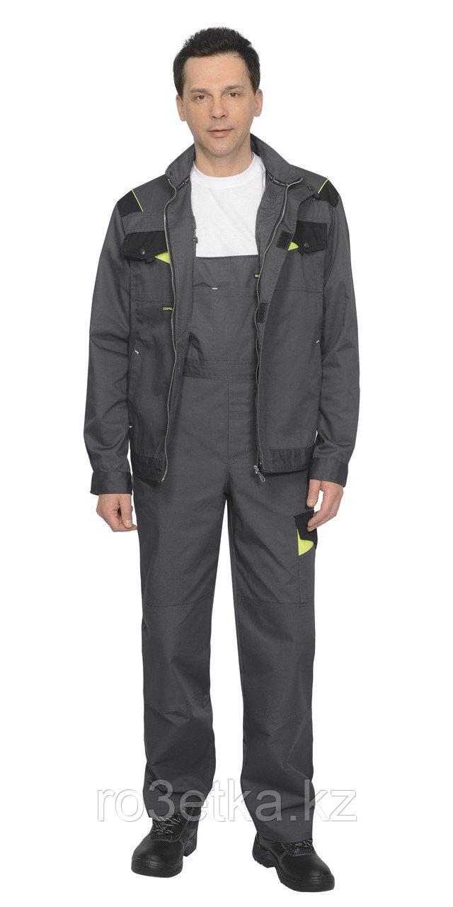 """Костюм """"ХОВАРД"""" : куртка кор., полукомб. темно-серый с черной и лимонной отд."""