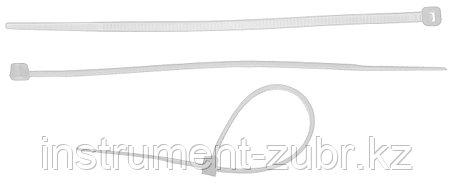 Кабельные стяжки белые КС-Б2, 3.6 х 300 мм, 50 шт, нейлоновые, ЗУБР, фото 2