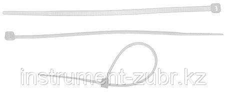 Кабельные стяжки белые КС-Б2, 4.8 х 400 мм, 25 шт, нейлоновые, ЗУБР, фото 2