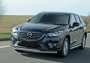 Защита переднего бампера d57+d42 Mazda CX-5 2011-2017