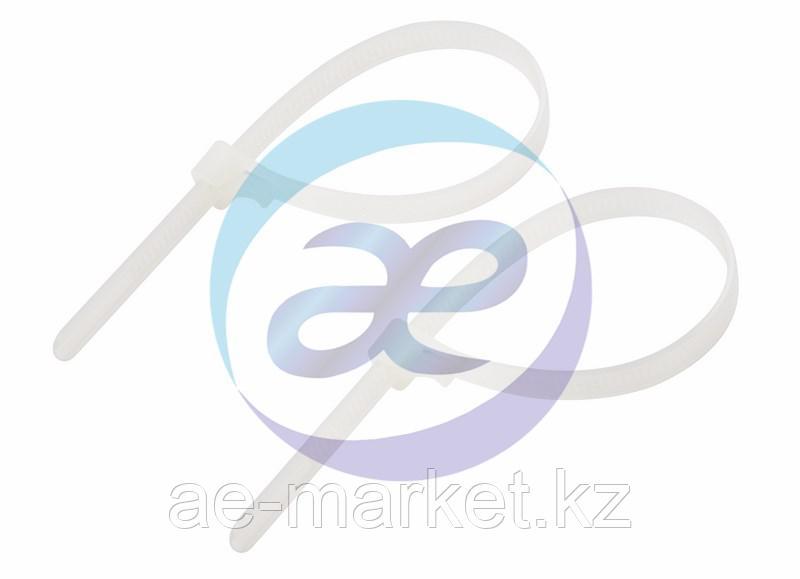 Хомут многоразовый 200 x 7, 5 мм 100 шт белый СКМ-200 REXANT
