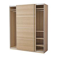 Гардероб ПАКС под беленый дуб Ильсенг  ИКЕА, IKEA, фото 1