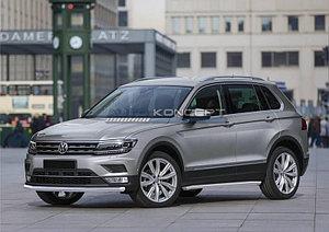 Защита переднего бампера d57 Volkswagen Tiguan, без пакета offroad 2017-