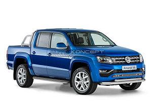 Защита переднего бампера d76+d57 Volkswagen Amarok 2016-