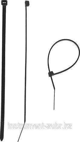 Кабельные стяжки черные КС-Ч1, 3.6 x 300 мм, 100 шт, нейлоновые, ЗУБР, фото 2