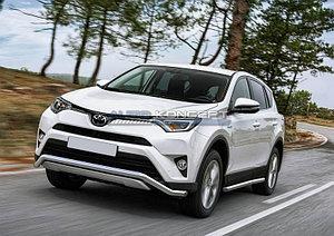 Защита переднего бампера d57 волна Toyota Rav 4 2015-