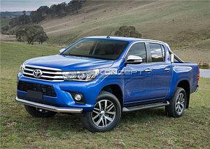 Защита переднего бампера 75х42 овал Toyota Hilux 2015-