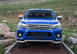 Защита переднего бампера d57 волна Toyota Hilux 2015-