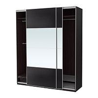 Гардероб ПАКС черно-коричневый Аули Ильсенг ИКЕА, IKEA, фото 1
