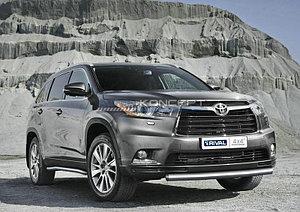 Защита переднего бампера d76 Toyota Highlander 2010-2014