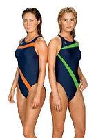 Слитный купальник TYR Poly Lumina Vaporback цвет зеленый/синий синий/оранжевый, 28
