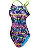 Спортивный купальник TYR Sumatra Cutoutfit цвет 004 Черный/Мульти размер 26, фото 3