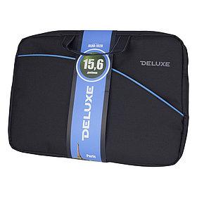 """Сумка для ноутбука, Deluxe, DLNB-102B-P15.6, 15.6"""", Лёгкая, Прошитые ручки, Внешнее отделение на мол"""
