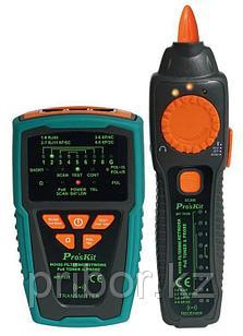 Тестер телекоммуникационных сетей и линий передачи данных PoE шумозащищенный Pro'sKit MT-7029