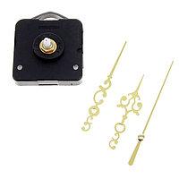 Набор: часовой механизм 3268 с подвесом, дискретный ход + комплект стрелок золото витые 12х18см, фото 1