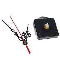 Набор: часовой механизм 3268 с подвесом, дискретный ход + комплект стрелок хром витые 12х18см, фото 1