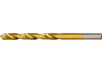 Сверло по металлу, 2,5 мм, HSS, нитридтитановое покрытие, цилиндрический хвостик// MATRIX