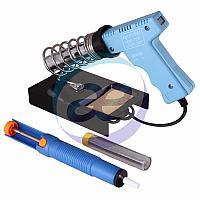 Набор для пайки (паяльник импульсный 30/70 Вт, оловоотсос, подставка, припой) (ZD-303-A) REXANT