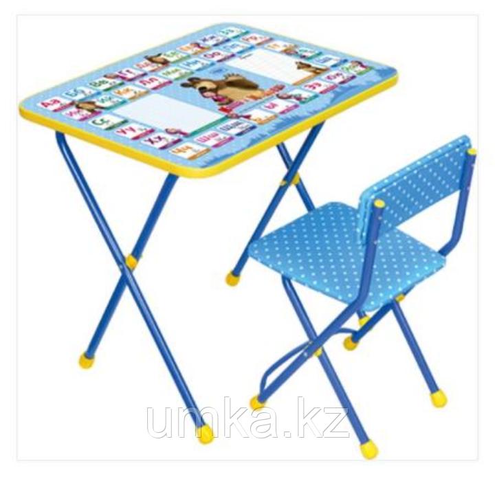 """Стол с мягким стульчиком """"Маша и медведь"""". Азбука"""