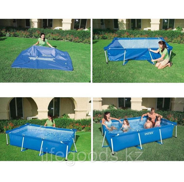 Каркасный бассейн для дачи прямоугольный 300х200х75 см, Intex 28272 - фото 4