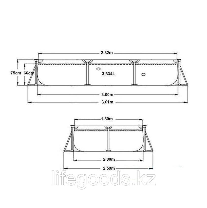 Каркасный бассейн для дачи прямоугольный 300х200х75 см, Intex 28272 - фото 5
