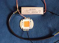 Светодиод полного спектра 50W плюс драйвер 50W, фото 1