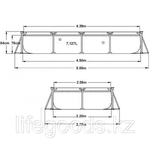 Каркасный бассейн Intex 28273 прямоугольный 450х220х84см - фото 4