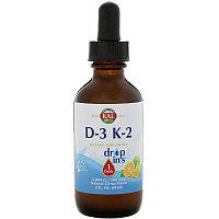 KAL, Vitamin D-3 K-2 в каплях  (59 ml)