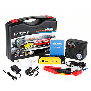 Пуско-зарядное устройство с автомобильным компрессором