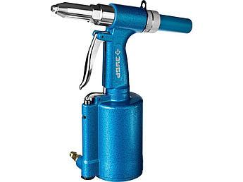 (31285) Заклепочник ЗУБР пневматический, корпус из алюминия, для заклепок из нержавеющей стали, 2,4-3,2-4-4,8м