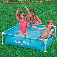 Детский каркасный бассейн 122x122x30 см, Intex 57173