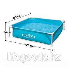 Детский каркасный бассейн 122x122x30 см, Intex 57173, фото 2