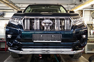 Защита передняя двойная (КРУГ+КРУГ) D 76,1/60,3 Toyota Land Cruiser Prado 150 2017-