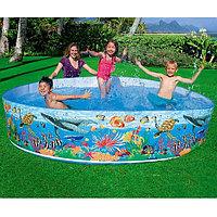 Детский бассейн с жесткой стенкой 244х46см, Intex 58472
