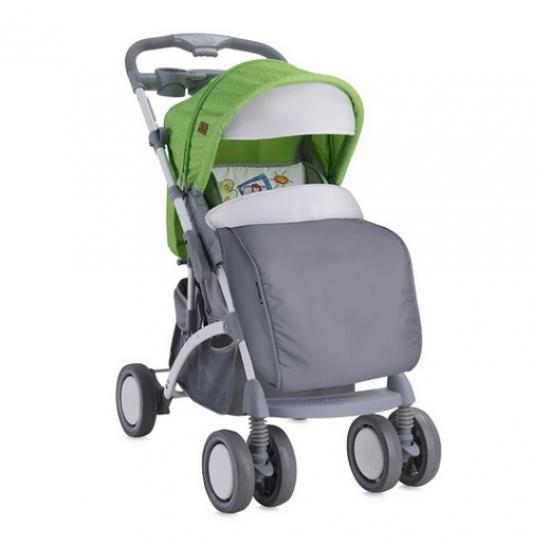 Коляска BERTONI APOLLO + сумка для мамы Зелено-серый/Green&Grey CAR 1714