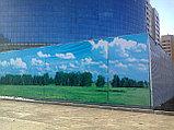 Монтаж баннера на забор, фото 2