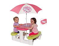 """Столик детский для пикника с зонтиком """"Неllo Kitty"""" Smoby, фото 1"""