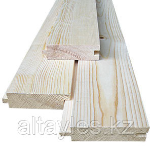Доска для пола (шпунт) 28х110х4000 мм, сосна сорт B(2), Усть-каменогорск