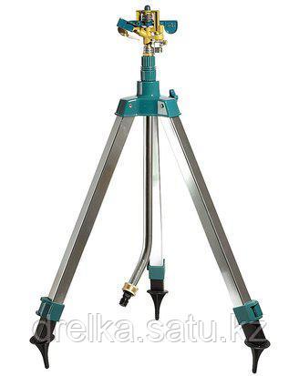 Распылитель для полива RACO 4260-55/706, ЭКСПЕРТ, импульсный, латунный, на треноге 0,68 - 1,3 м, 490 кв.м