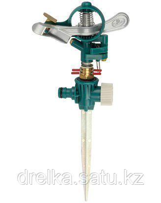 Распылитель для полива RACO 4260-55/722C, импульсный, латунный, на пике, 490 кв.м