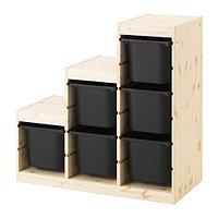 стеллаж для игрушек ТРУФАСТ сосна ИКЕА, IKEA, фото 1